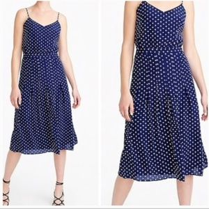 J. Crew Polka Dot Silk Midi Dress
